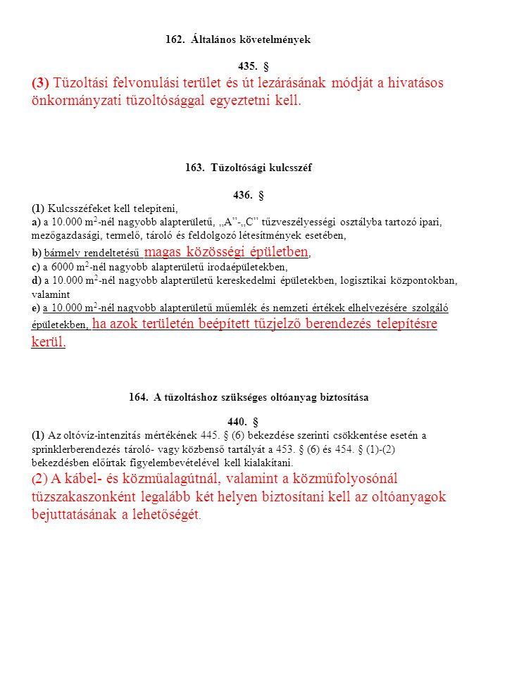 162.Általános követelmények 435.