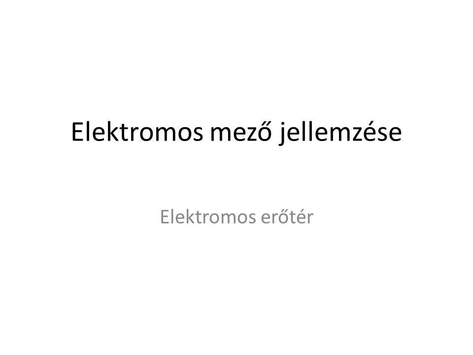 Elektromos mező jellemzése Elektromos erőtér