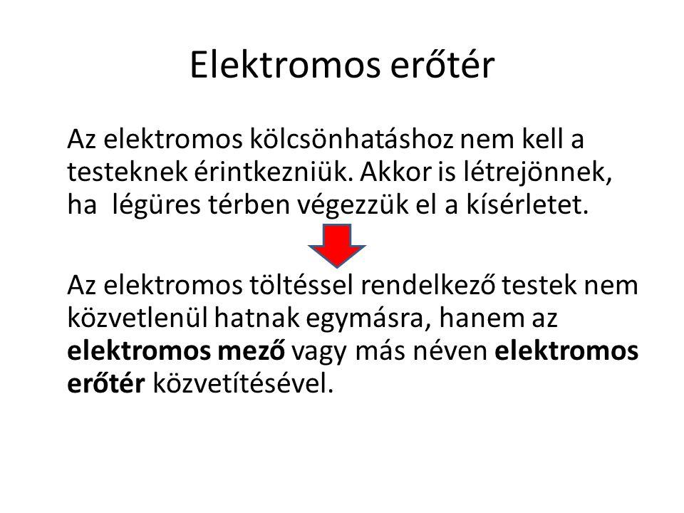 Elektromos mező munkája Az elektromos mező a benne lévő töltésekre erőt fejt ki.