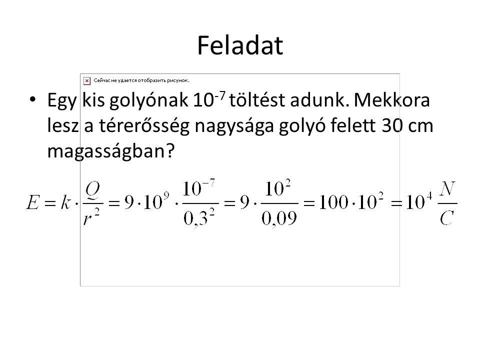 Homogén mező feszültsége Két pont közti feszültség homogén mezőben U=E*d*cos 