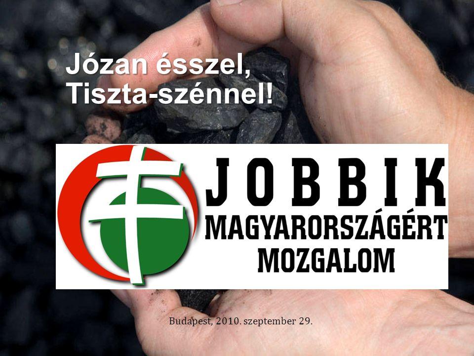 Budapest, 2010. szeptember 29. Józan ésszel, Tiszta-szénnel!