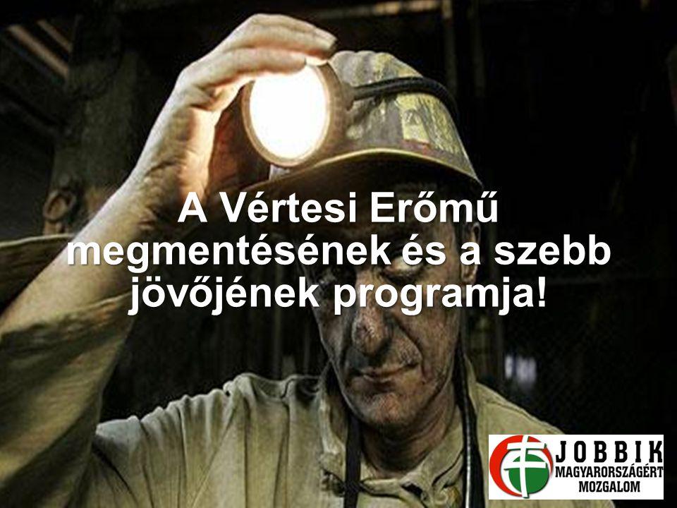 A Vértesi Erőmű megmentésének és a szebb jövőjének programja! 2