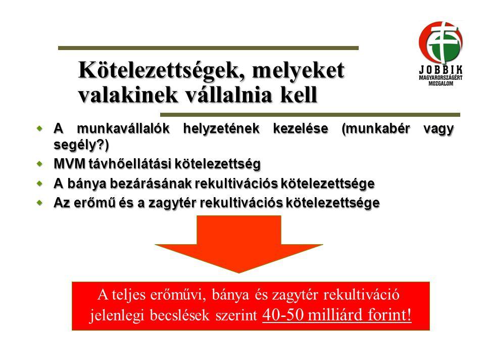 Kötelezettségek, melyeket valakinek vállalnia kell  A munkavállalók helyzetének kezelése (munkabér vagy segély?)  MVM távhőellátási kötelezettség 