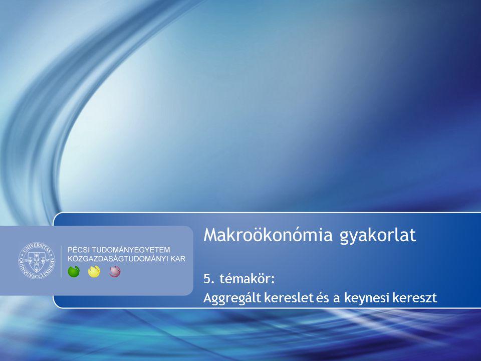 Makroökonómia gyakorlat 5. témakör: Aggregált kereslet és a keynesi kereszt