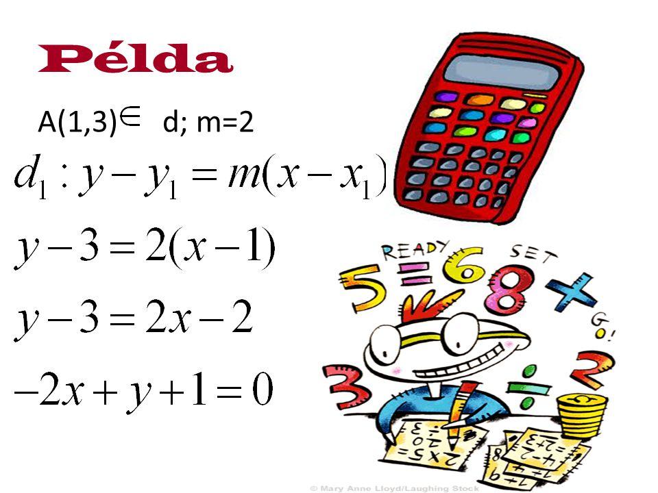 A(1,3) d; m=2 Példa