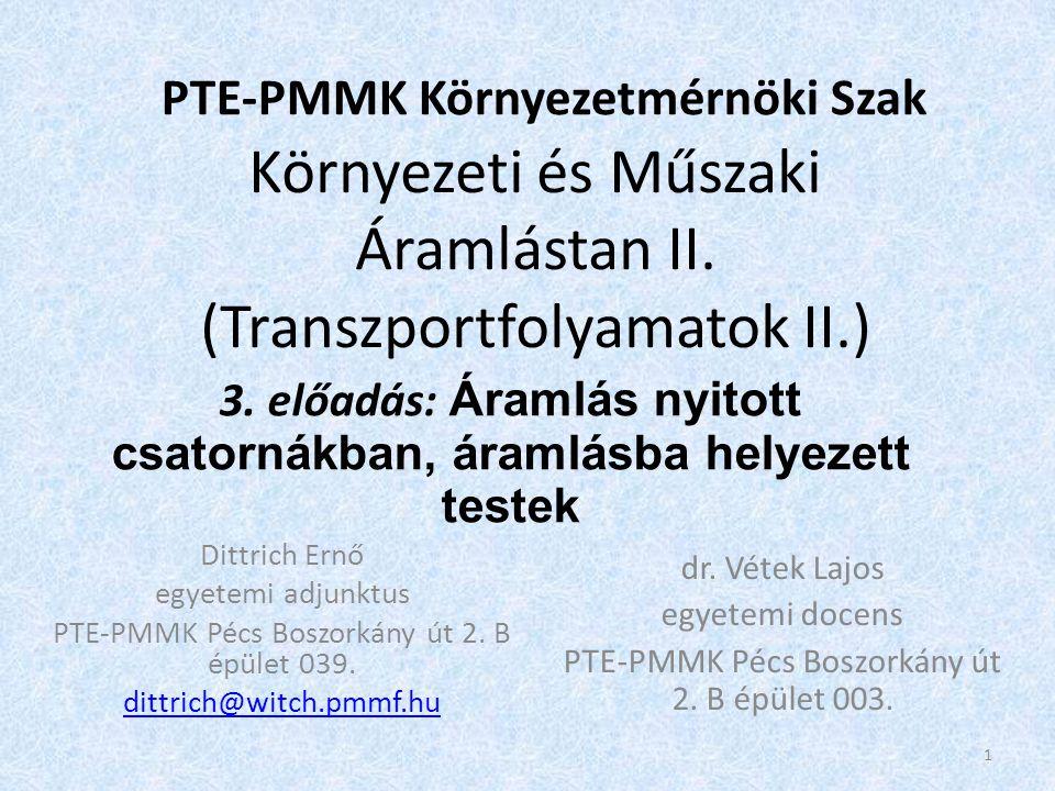 Környezeti és Műszaki Áramlástan II.