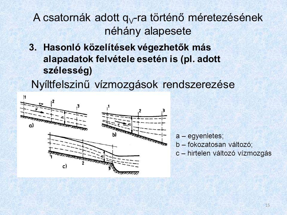 3.Hasonló közelítések végezhetők más alapadatok felvétele esetén is (pl.