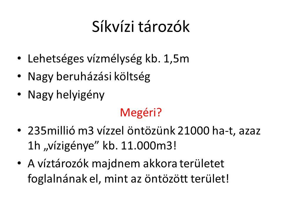 Eretnek gondolatok I.• Vízlépcső – Csongrádi duzzasztó, első felvetés 1932-ben.