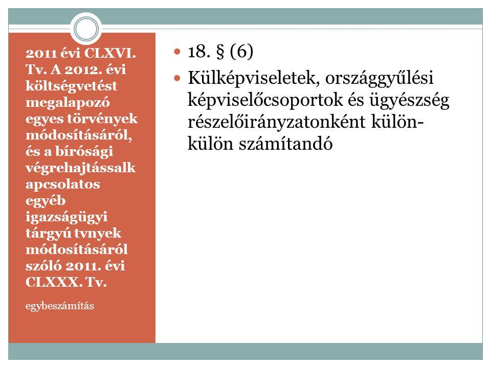 2011 évi CLXVI. Tv. A 2012. évi költségvetést megalapozó egyes törvények módosításáról, és a bírósági végrehajtássalk apcsolatos egyéb igazságügyi tár