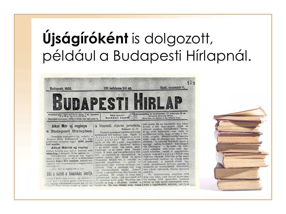Újságíróként is dolgozott, például a Budapesti Hírlapnál.