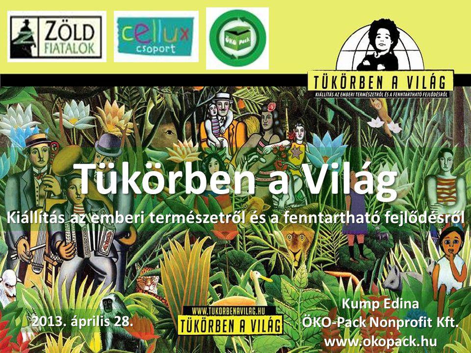 Tükörben a Világ Kiállítás az emberi természetről és a fenntartható fejlődésről Kump Edina ÖKO-Pack Nonprofit Kft. www.okopack.hu 2013. április 28.