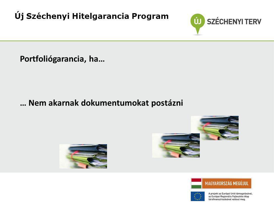 Új Széchenyi Hitelgarancia Program Portfoliógarancia, ha… … Nem akarnak dokumentumokat postázni