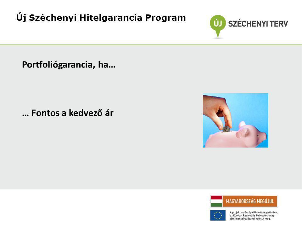 Portfoliógarancia, ha… … Fontos a kedvező ár Új Széchenyi Hitelgarancia Program