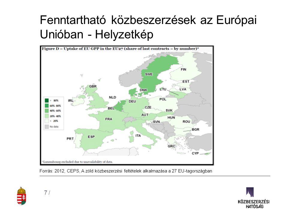 """Fenntartható közbeszerzések az Európai Unióban – az új közbeszerzési irányelvek EU közbeszerzési szabályozása hatásainak, és eredményességének elemzése: """"Az ajánlatkérők nem rendelkeznek elegendő mozgástérrel ahhoz, hogy a fenntarthatóságra irányuló politikai megfontolásokat érvényesíthessenek. Új irányelvek tervezetei: Cluster 2 - Stratégiai alkalmazás 8 /  felhatalmazó megközelítés  életciklusköltségek, externáliák figyelembe vehetőek, amennyiben azok igazolhatóak és számszerűsíthetőek  szerződés tárgyához kötöttség továbbra is feltétel, de némileg finomítva (termelési folyamat, externáliák figyelembe vehetőek)  megkönnyítik a címkék (ökocímkék) alkalmazását  új kizáró ok az EU szociális és környezetvédelmi előírásainak megsértése  innovációs partnerség, több tárgyalási lehetőség, határon átnyúló közös beszerzések szabályai"""