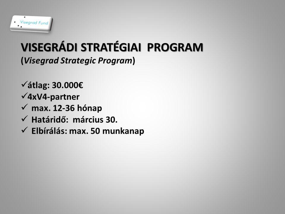 ÁLTALÁNOS TÁMOGATÁSOK (Standard Grants)  6.001€ -- ………  max.