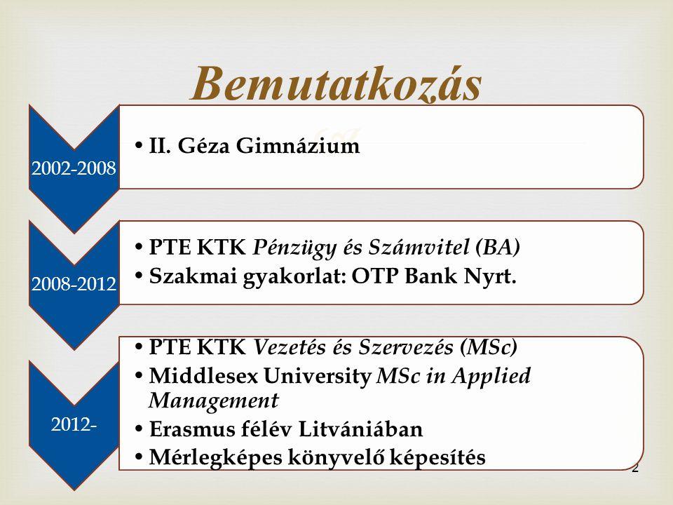  2 Bemutatkozás 2002-2008 • II.