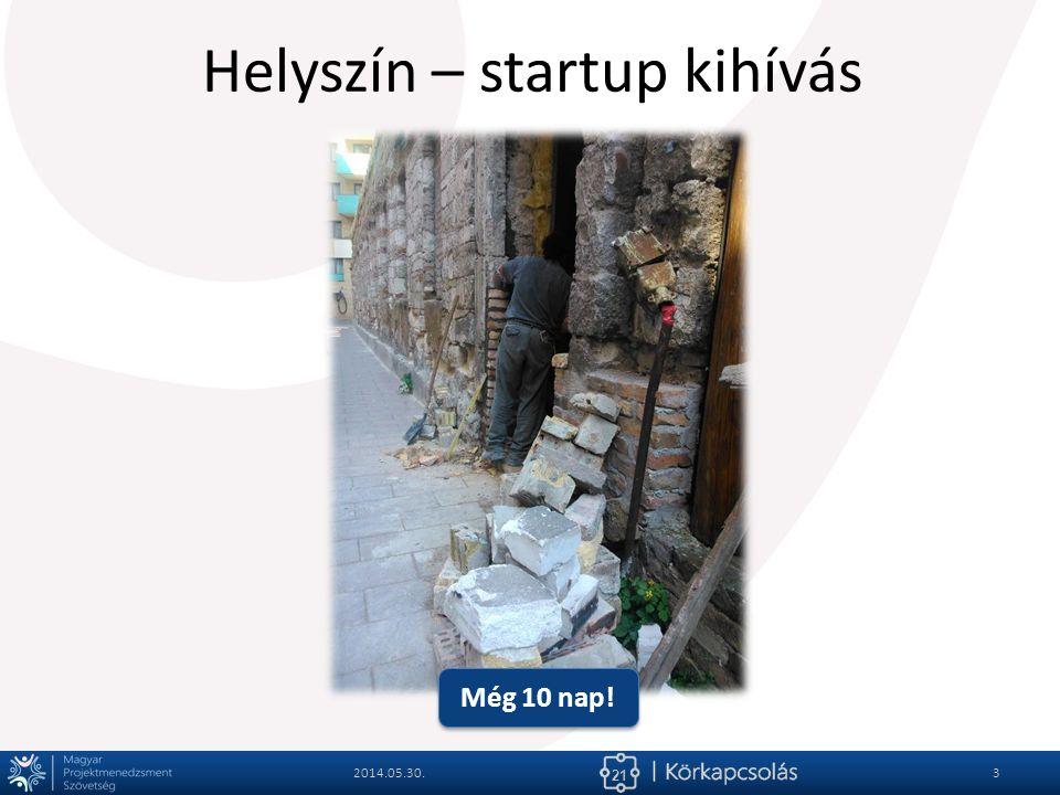 21 Helyszín – startup kihívás 2014.05.30.4 Még 10 nap!
