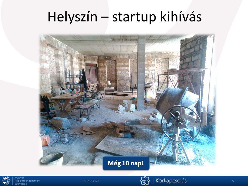 21 Helyszín – startup kihívás 2014.05.30.5 Még 10 nap!
