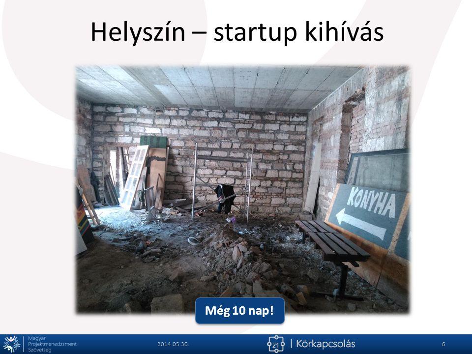 21 Helyszín – startup kihívás 2014.05.30.6 Még 10 nap!
