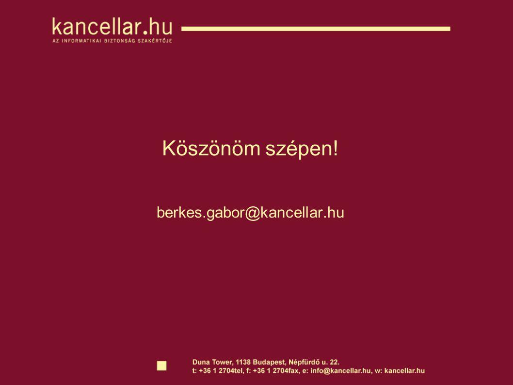 Köszönöm szépen! berkes.gabor@kancellar.hu
