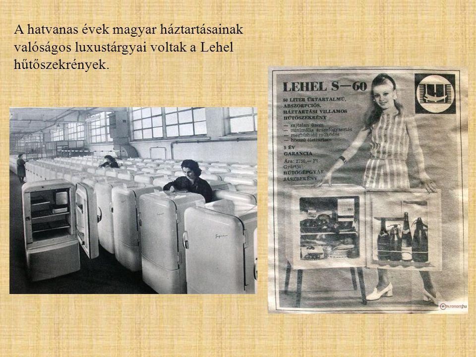 A hatvanas évek magyar háztartásainak valóságos luxustárgyai voltak a Lehel hűtőszekrények.