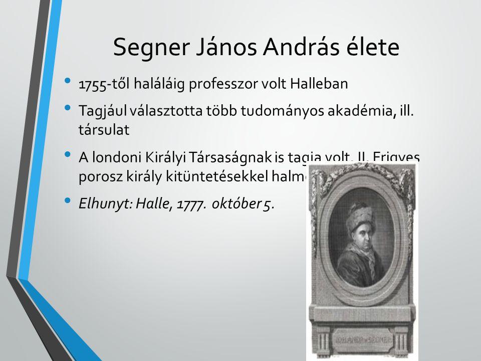 • 1755-től haláláig professzor volt Halleban • Tagjául választotta több tudományos akadémia, ill. társulat • A londoni Királyi Társaságnak is tagja vo
