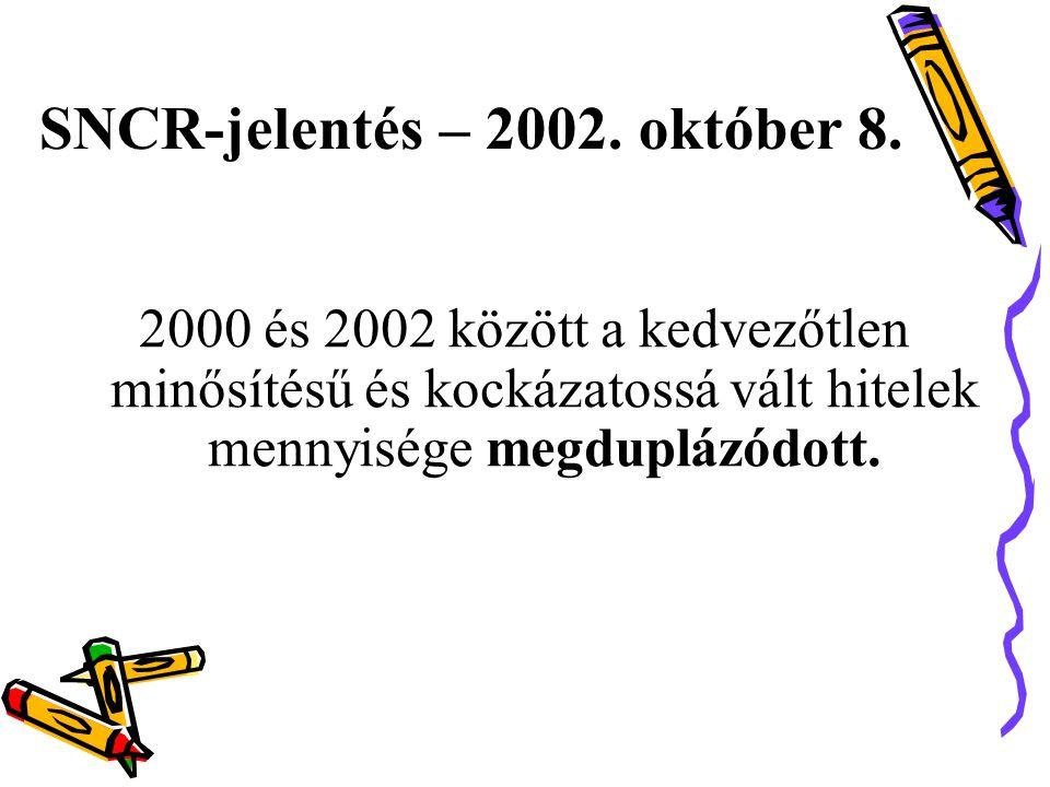 SNCR-jelentés – 2002.október 8.