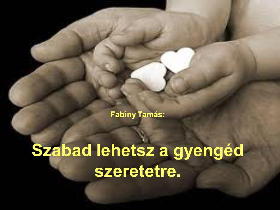 Fabiny Tamás: Szabad lehetsz a gyengéd szeretetre.