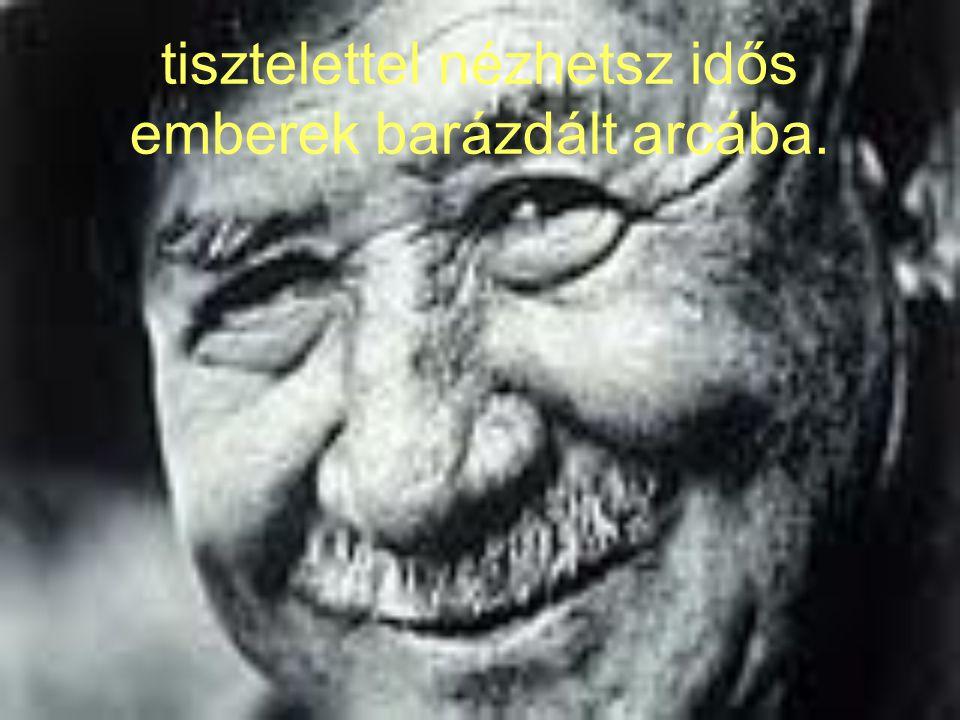 tisztelettel nézhetsz idős emberek barázdált arcába.