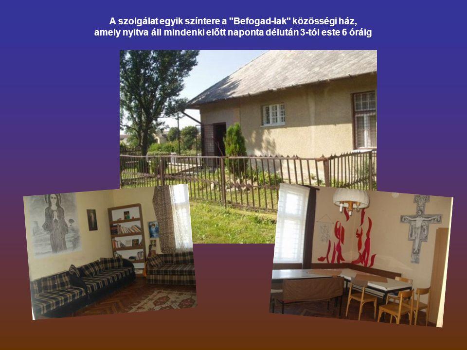 A szolgálat egyik színtere a Befogad-lak közösségi ház, amely nyitva áll mindenki előtt naponta délután 3-tól este 6 óráig