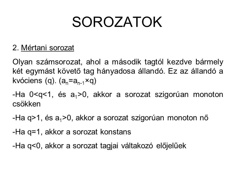 SOROZATOK 2.