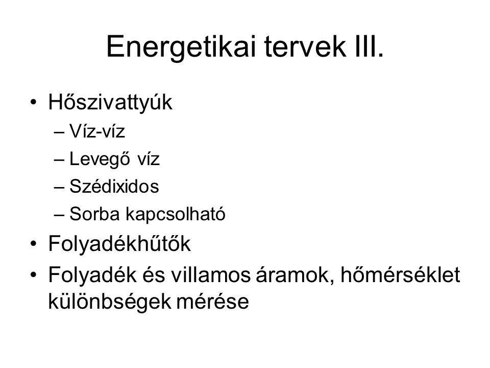 Energetikai tervek III.