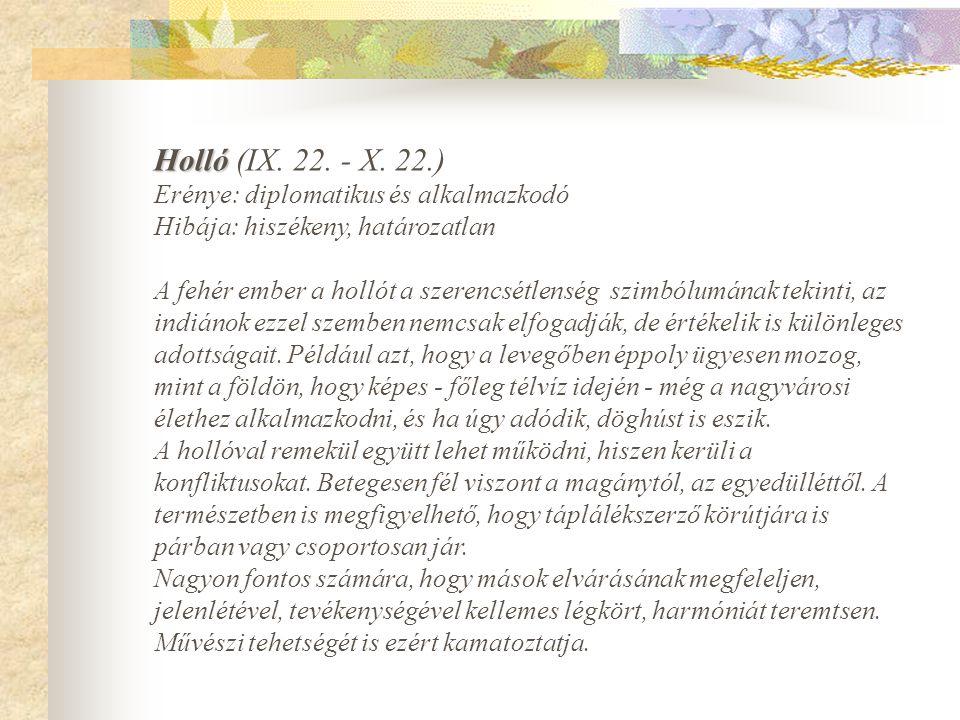 Holló Holló (IX.22. - X.