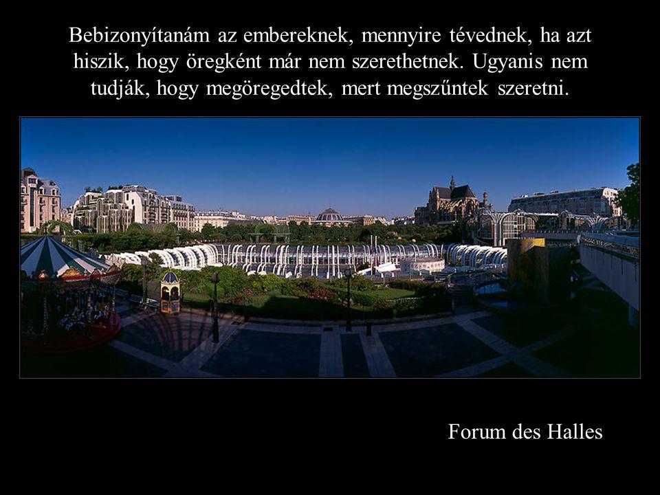 Forum des Halles Bebizonyítanám az embereknek, mennyire tévednek, ha azt hiszik, hogy öregként már nem szerethetnek.