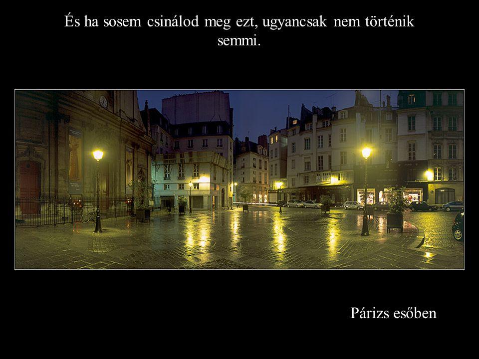 Párizs esőben És ha sosem csinálod meg ezt, ugyancsak nem történik semmi.