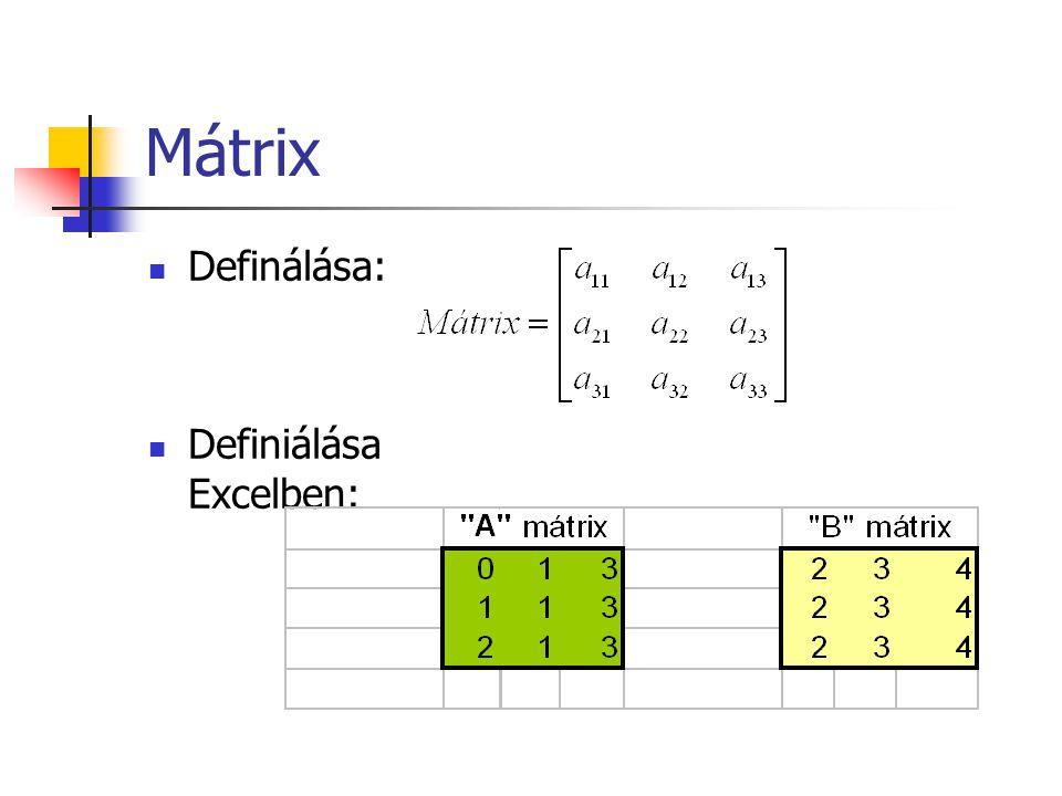 Példa - CÍM() =CÍM(2;3) =CÍM(2;3;4) =CÍM(2;3;;HAMIS) =CÍM(2;3;;; Füzet )