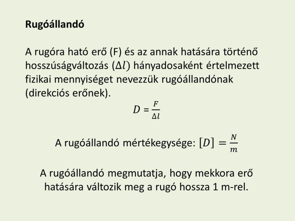 Lineáris erőtörvény vagy Hooke törvény