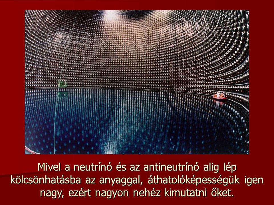 Mivel a neutrínó és az antineutrínó alig lép kölcsönhatásba az anyaggal, áthatolóképességük igen nagy, ezért nagyon nehéz kimutatni őket.