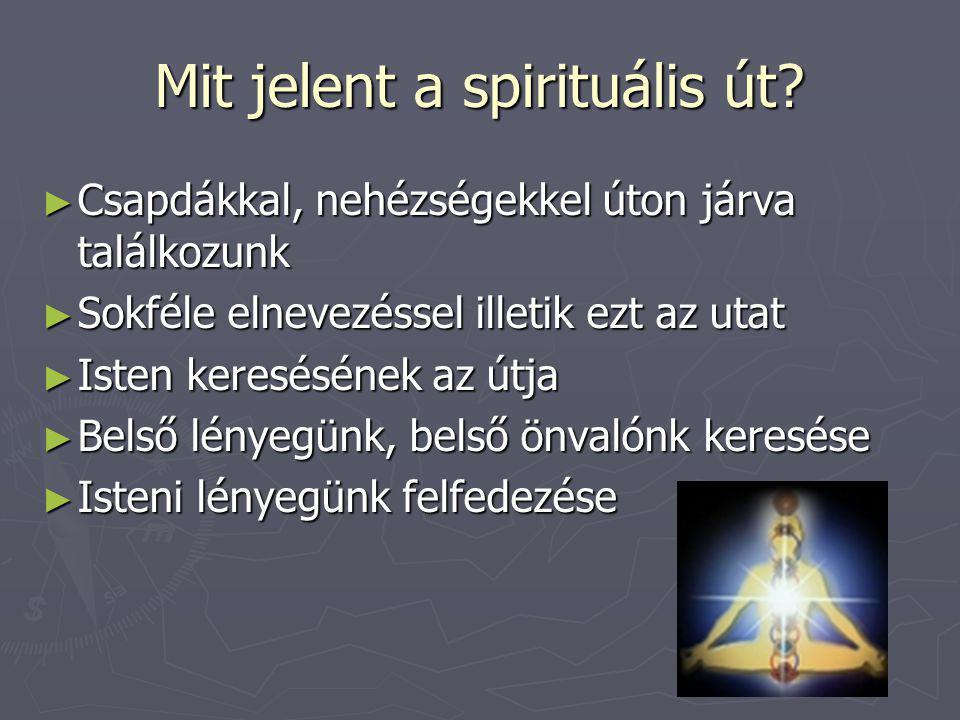 Mit jelent a spirituális út.