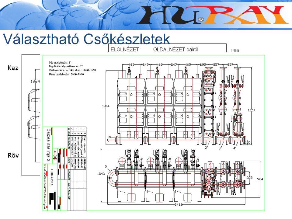 Kazánköri és fűtésköri modulok HMV modul Szabadon álló kivitel Állítható lábak Rugalmas kazáncsatlakozók Beépített elzáró szerelvények DN 50 - DN150 p