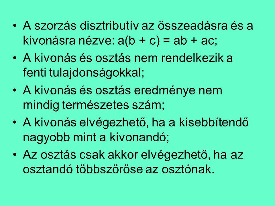 Természetes számok hatványozása •A hatványozás ismételt szorzás; •A n = •Műveletek hatványokkal: