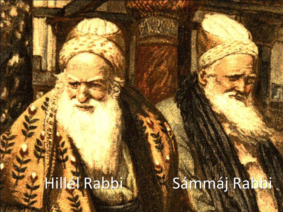 A farizeusok vitája © Brouwer Pálhegyi Krisztina ∙www.bibliai.com Hillél Rabbi Sámmáj Rabbi