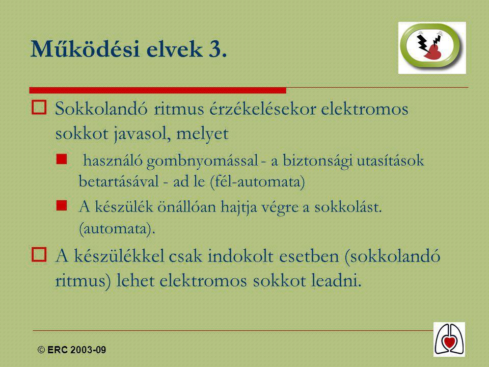© ERC 2003-09 Működési elvek 3.