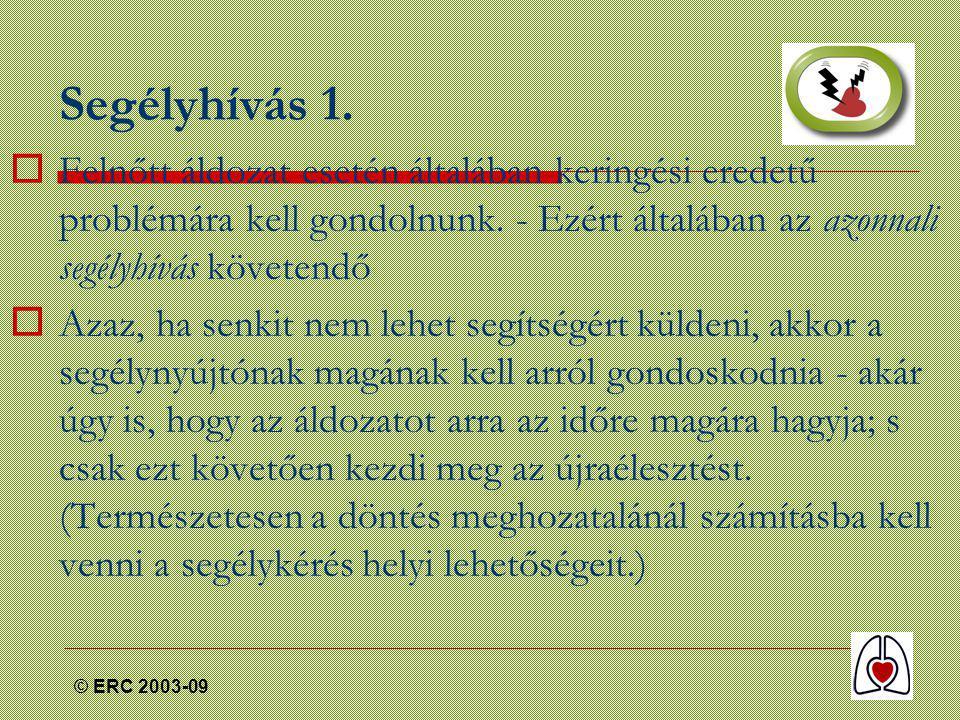 © ERC 2003-09 Segélyhívás 1.