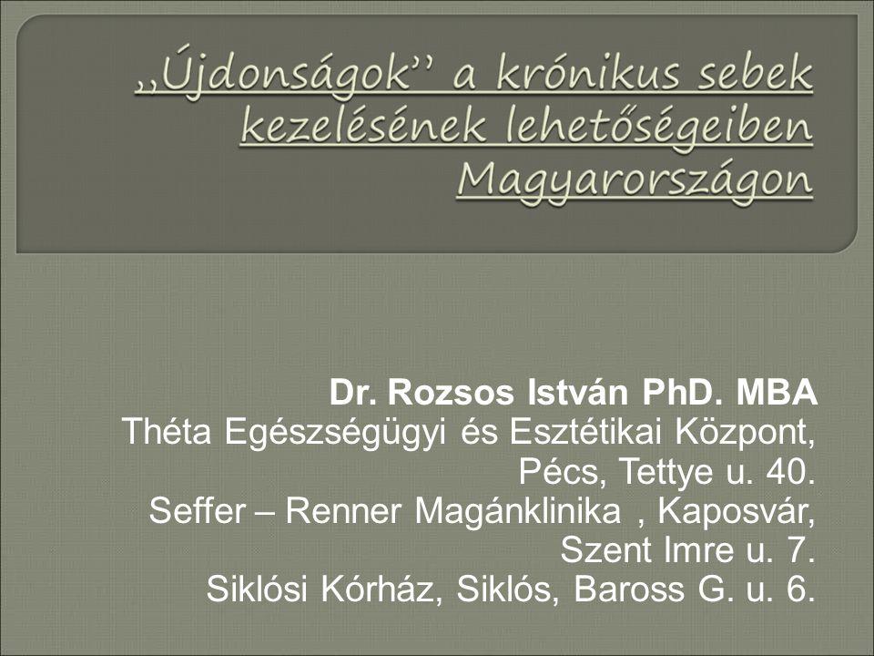 Dr. Rozsos István PhD. MBA Théta Egészségügyi és Esztétikai Központ, Pécs, Tettye u. 40. Seffer – Renner Magánklinika, Kaposvár, Szent Imre u. 7. Sikl
