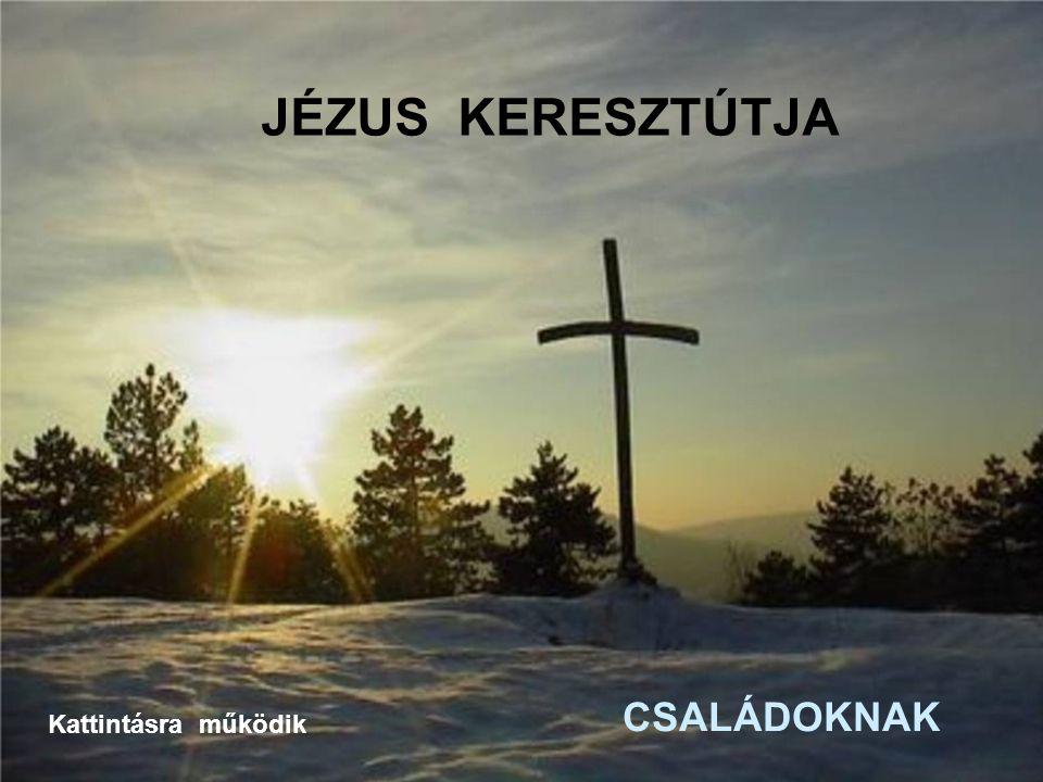 9.Jézus harmadszor esik el a kereszttel A kereszt terhe egyre nehezebb, Jézus harmadszor is leroskad mert mi szánalmasan, szégyenletesen ragaszkodunk szenvedélyeinkhez.
