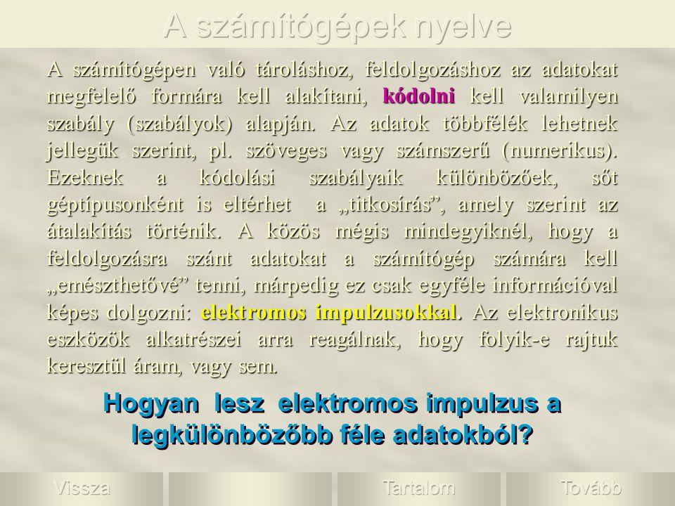 A szöveges információ jelekre bontható: betűkre, írásjelekre, szóközökre, esetleg számjegyekre.