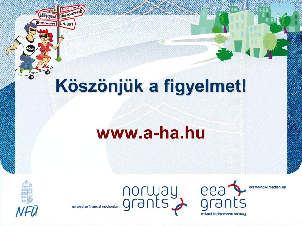 www.a-ha.hu Köszönjük a figyelmet!