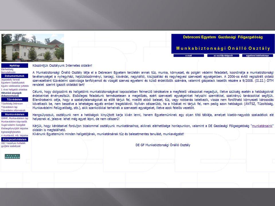 9/2008 (II.22.) ÖTM r. a z Országos Tűzvédelmi Szabályzat kiadásáról, 27 /200 9.