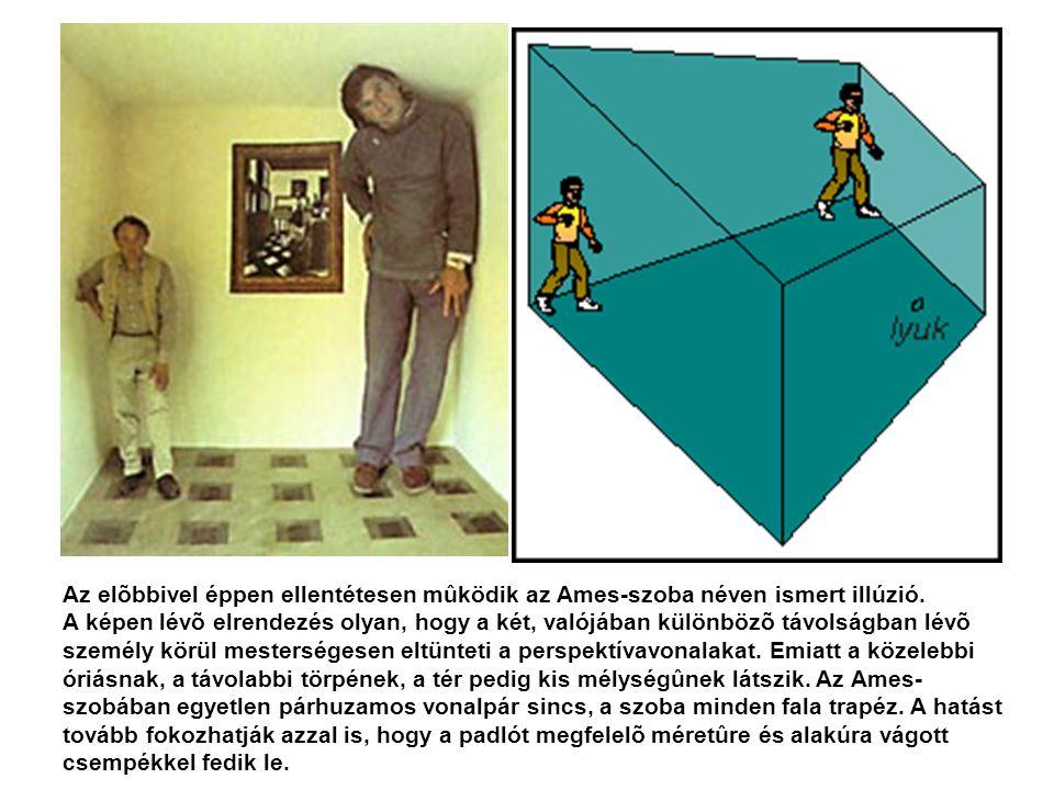 Az elõbbivel éppen ellentétesen mûködik az Ames-szoba néven ismert illúzió.